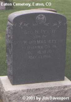 PETTIT, GEO. H. - Weld County, Colorado   GEO. H. PETTIT - Colorado Gravestone Photos