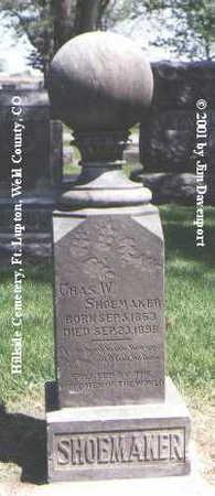SHOEMAKER, CHAS. W. - Weld County, Colorado | CHAS. W. SHOEMAKER - Colorado Gravestone Photos