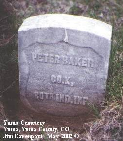 BAKER, PETER - Yuma County, Colorado | PETER BAKER - Colorado Gravestone Photos