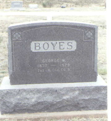 BOYES, GEORGE W. - Yuma County, Colorado   GEORGE W. BOYES - Colorado Gravestone Photos