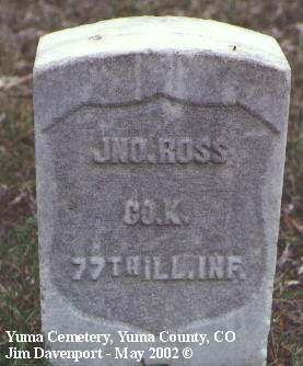 ROSS, JNO. - Yuma County, Colorado | JNO. ROSS - Colorado Gravestone Photos