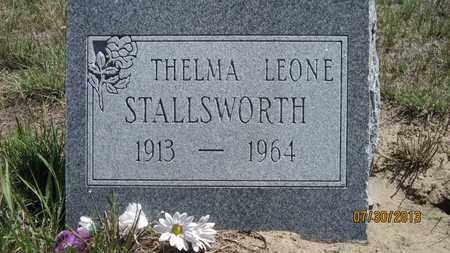 BLACK STALLSWORTH, THELMA LEONE - Yuma County, Colorado | THELMA LEONE BLACK STALLSWORTH - Colorado Gravestone Photos