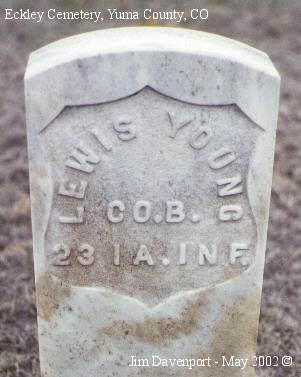 YOUNG, LEWIS - Yuma County, Colorado   LEWIS YOUNG - Colorado Gravestone Photos