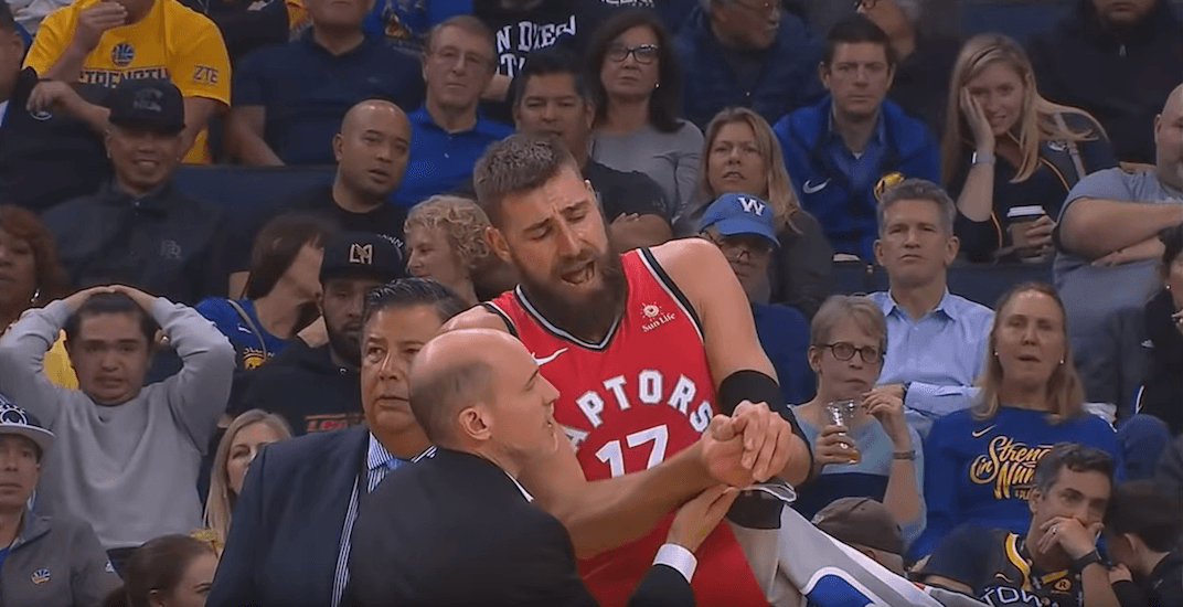 Raptors C Jonas Valanciunas (thumb) to miss 4 weeks