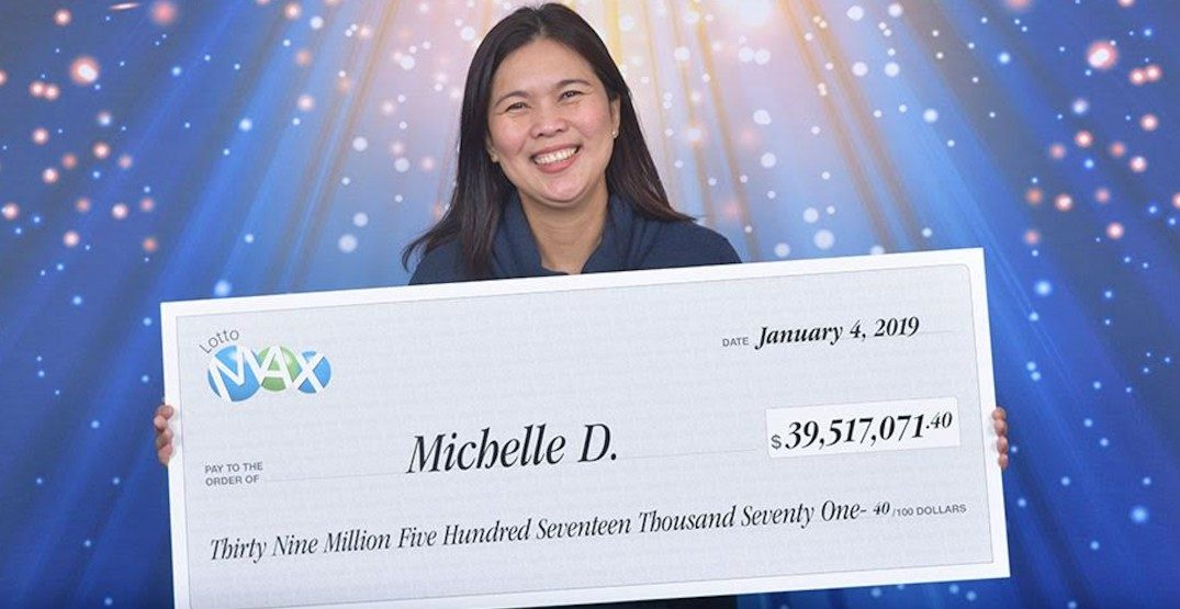 Surrey mother of 3 wins $39.5 million Lotto Max draw