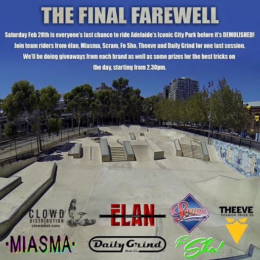 The Final Farewell - Adelaide City Park
