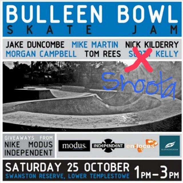 RE: Bulleen Bowl Jam
