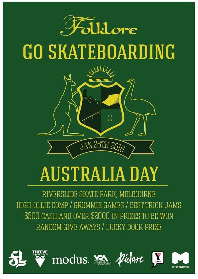 Go Skateboarding Australia Day