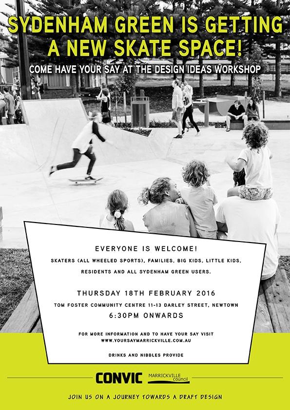 Sydenham Green Skate Space: Design Ideas Workshop