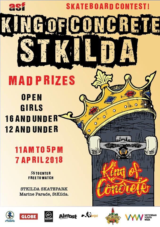King of Concrete St Kilda 2018