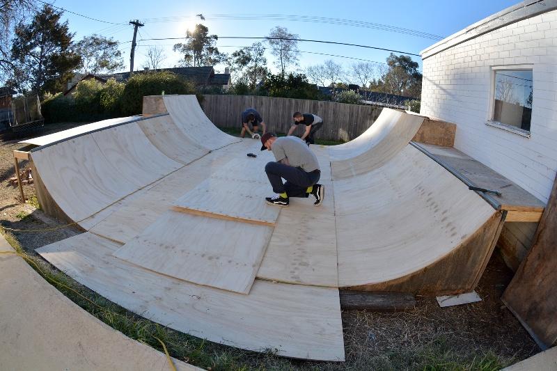 Ethan Copeland's new ramp
