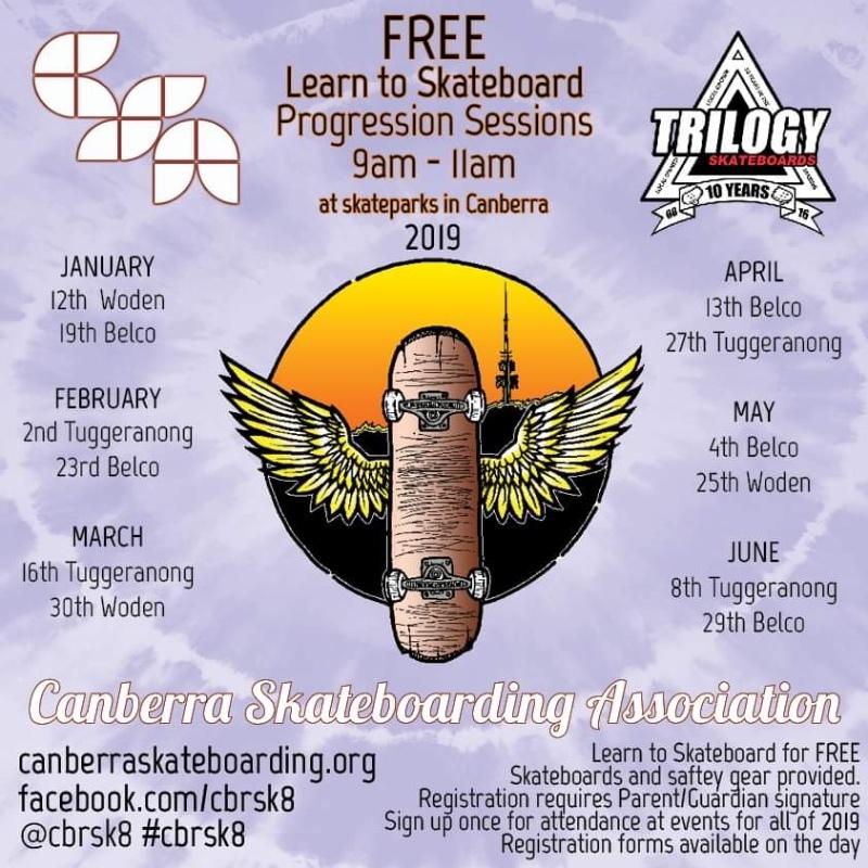 Free Skateboarding workshop for kids in Canberra.