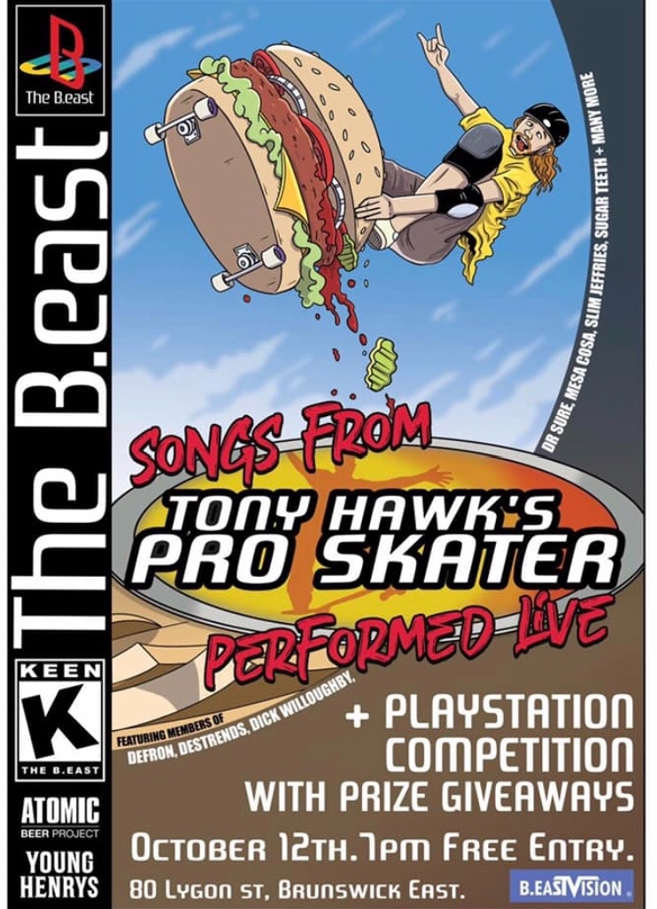 Songs from THPS Live