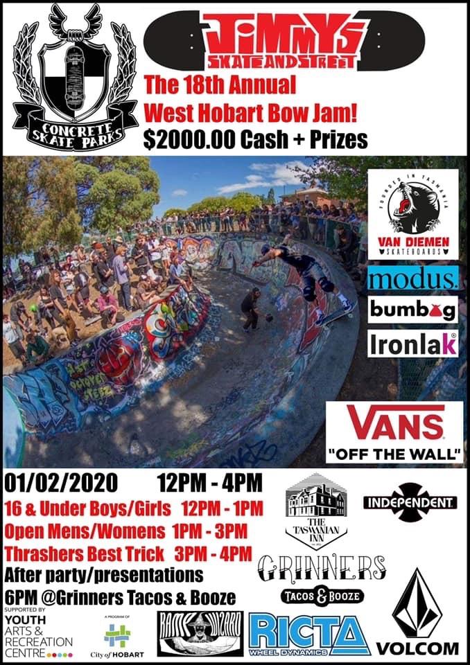 West Hobart Bowl Jam 2020