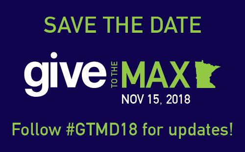Give to the Max Day 2018 is November 15