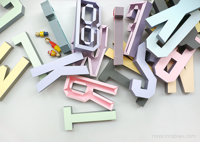 how to make 3d alphabet wall art