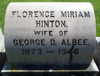 HINTON, FLORENCE MIRIAM - Albany County, New York | FLORENCE MIRIAM HINTON - New York Gravestone Photos
