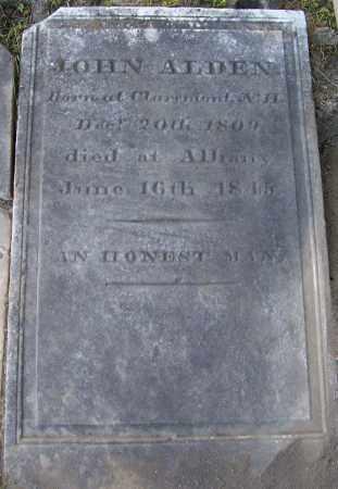 ALDEN, JOHN - Albany County, New York | JOHN ALDEN - New York Gravestone Photos