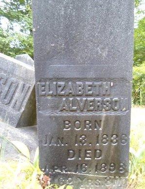 ALVERSON, ELIZABETH - Albany County, New York | ELIZABETH ALVERSON - New York Gravestone Photos