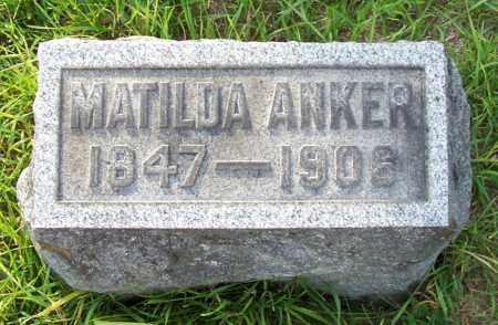 ANKER, MATILDA - Albany County, New York | MATILDA ANKER - New York Gravestone Photos