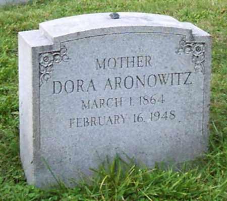 ARONOWITZ, DORA - Albany County, New York   DORA ARONOWITZ - New York Gravestone Photos