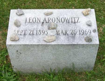 ARONOWITZ, LEON - Albany County, New York | LEON ARONOWITZ - New York Gravestone Photos