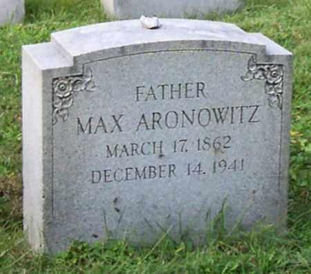 ARONOWITZ, MAX - Albany County, New York | MAX ARONOWITZ - New York Gravestone Photos