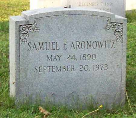 ARONOWITZ, SAMUEL E - Albany County, New York | SAMUEL E ARONOWITZ - New York Gravestone Photos