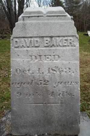 BAKER, DAVID - Albany County, New York | DAVID BAKER - New York Gravestone Photos