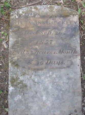 BARCKLEY, GITTY ANN - Albany County, New York | GITTY ANN BARCKLEY - New York Gravestone Photos