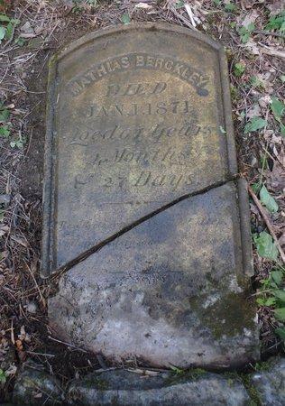BARCKLEY, MATHIAS - Albany County, New York   MATHIAS BARCKLEY - New York Gravestone Photos