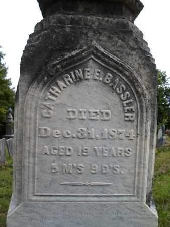 BASSLER, CATHARINE E - Albany County, New York | CATHARINE E BASSLER - New York Gravestone Photos