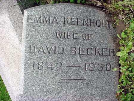 BECKER, EMMA - Albany County, New York | EMMA BECKER - New York Gravestone Photos