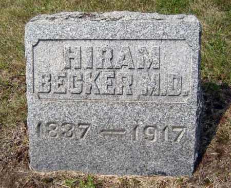 BECKER, HIRAM - Albany County, New York | HIRAM BECKER - New York Gravestone Photos