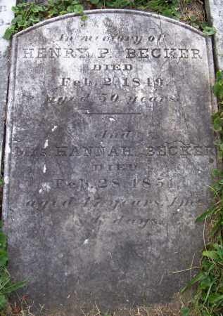 BECKER, HANNAH - Albany County, New York | HANNAH BECKER - New York Gravestone Photos
