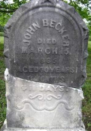 BECKER, JOHN - Albany County, New York | JOHN BECKER - New York Gravestone Photos