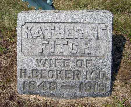 FITCH BECKER, KATHERINE - Albany County, New York | KATHERINE FITCH BECKER - New York Gravestone Photos
