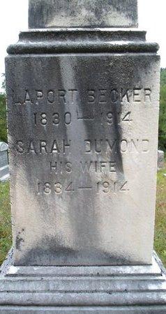 BECKER, LAPORT - Albany County, New York | LAPORT BECKER - New York Gravestone Photos