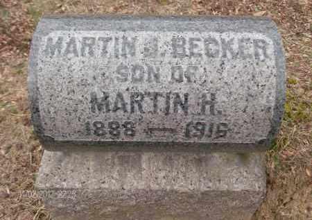 BECKER, MARTIN J - Albany County, New York   MARTIN J BECKER - New York Gravestone Photos