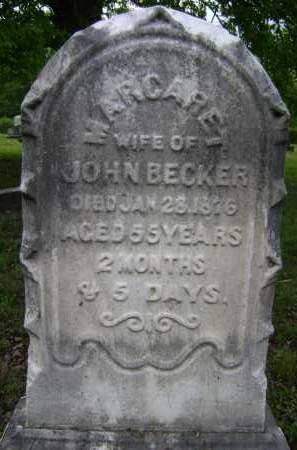 BECKER, MARGARET - Albany County, New York   MARGARET BECKER - New York Gravestone Photos
