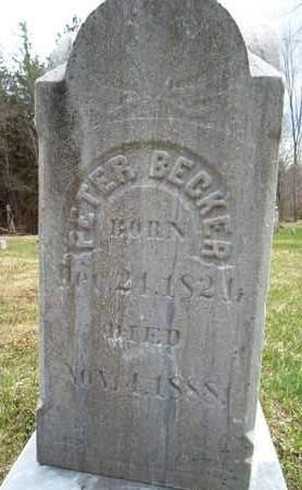 BECKER, PETER - Albany County, New York   PETER BECKER - New York Gravestone Photos