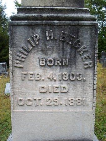 BECKER, PHILIP H - Albany County, New York | PHILIP H BECKER - New York Gravestone Photos
