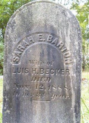 BECKER, SARAH E - Albany County, New York   SARAH E BECKER - New York Gravestone Photos