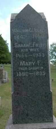 FRYER BECKER, SARAH E - Albany County, New York   SARAH E FRYER BECKER - New York Gravestone Photos