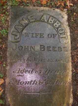 BEEBE, JANE - Albany County, New York   JANE BEEBE - New York Gravestone Photos