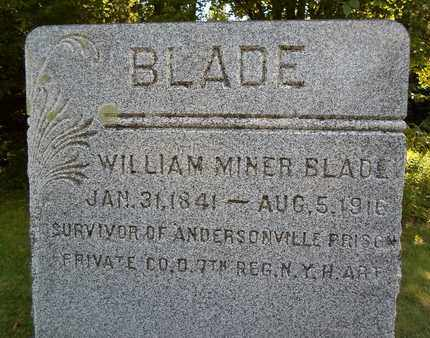 BLADE (CW), WILLIAM MINER - Albany County, New York | WILLIAM MINER BLADE (CW) - New York Gravestone Photos