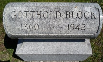 BLOCK, GOTTHOLD - Albany County, New York | GOTTHOLD BLOCK - New York Gravestone Photos