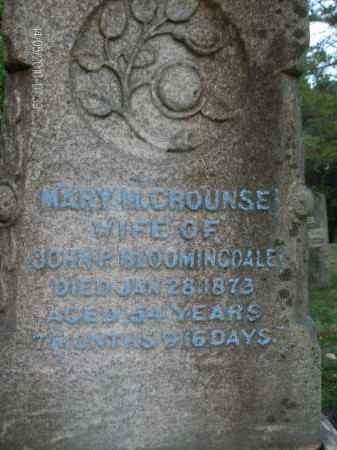 CROUNSE, MARY - Albany County, New York   MARY CROUNSE - New York Gravestone Photos