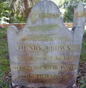 BROWN, HENRY - Albany County, New York | HENRY BROWN - New York Gravestone Photos