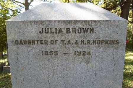 BROWN, JULIA - Albany County, New York | JULIA BROWN - New York Gravestone Photos